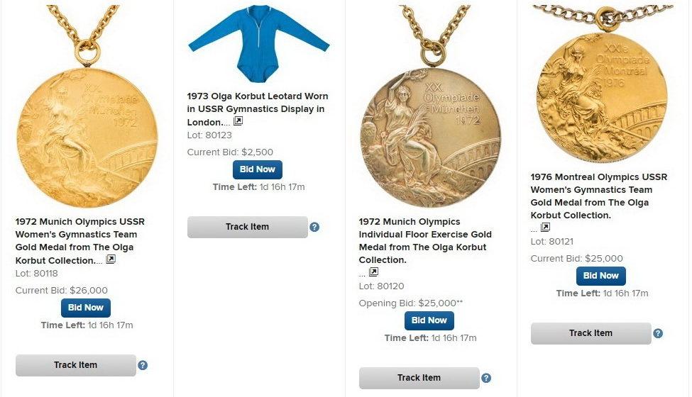 Легендарная гимнастка Ольга Корбут выставила нааукцион свои олимпийские медали