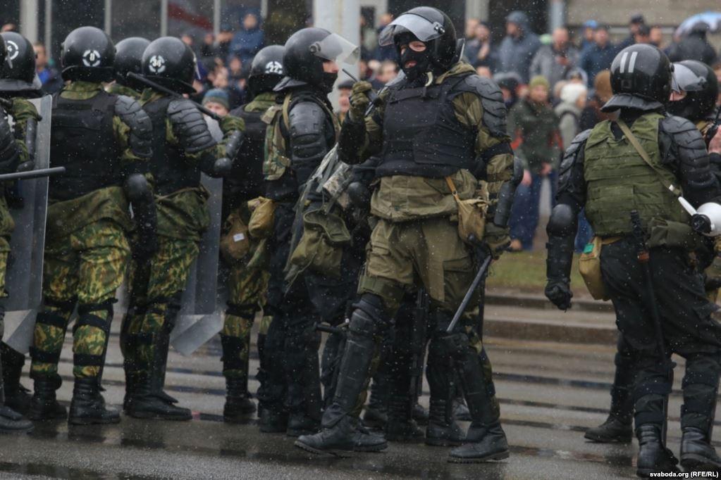 Амуниция спецслужб. Фото: Радыё Свабода