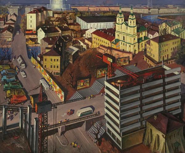 Картина Мая Данцига «Мой город древний, молодой» (1972)