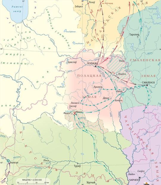 Территория Беларуси в XI веке. Изображение из архива Ольги Левко. TUT.by