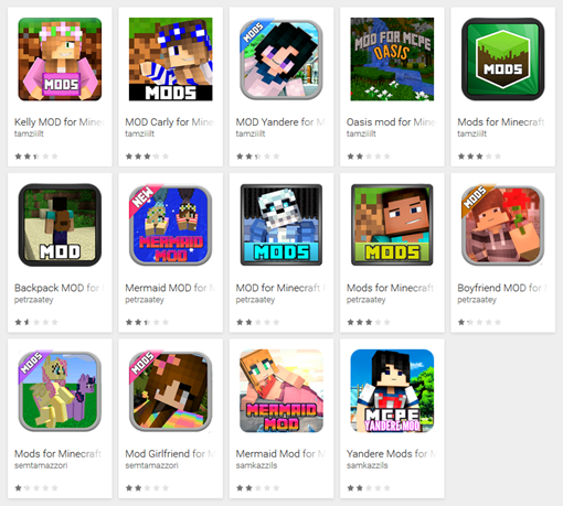 ВGoogle Play появились вирусы, замаскированные под дополнения кMinecraft