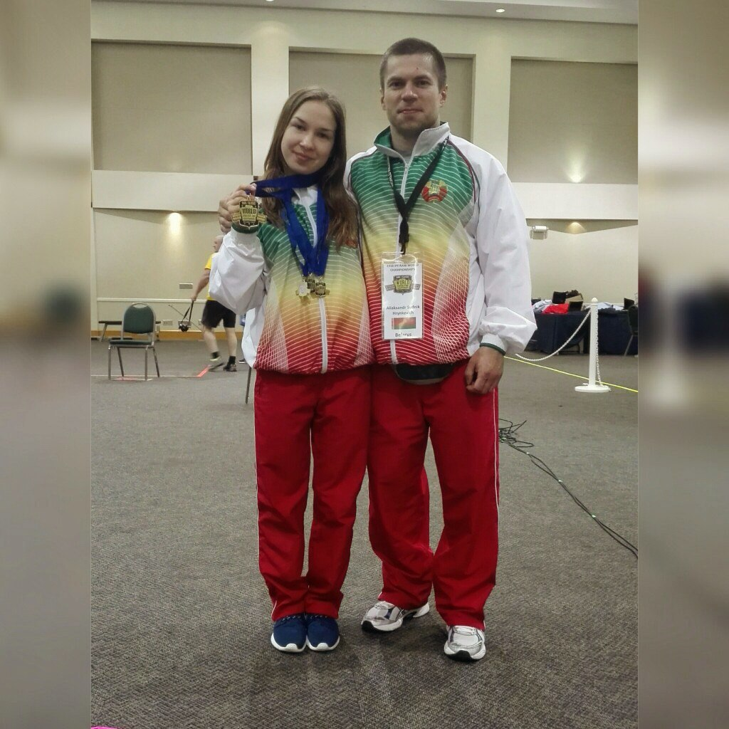 Татьяна Домашина и ее тренер Александр Гринкевич-Судник. Фото: соцсеть «ВКонтакте»