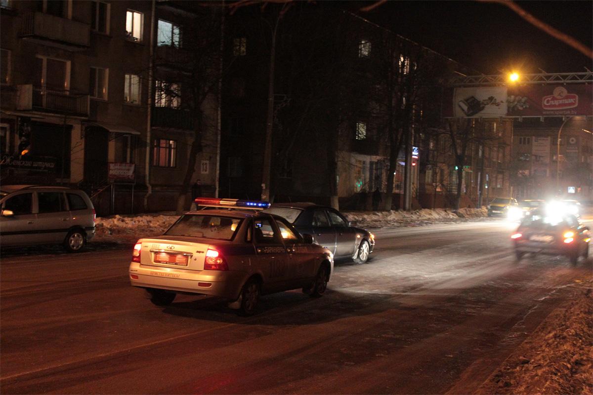Место ДТП на ул Комсомольской, 15 февраля.