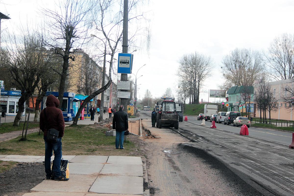 Благоустройство автобусной остановки «2-е Третьяки»