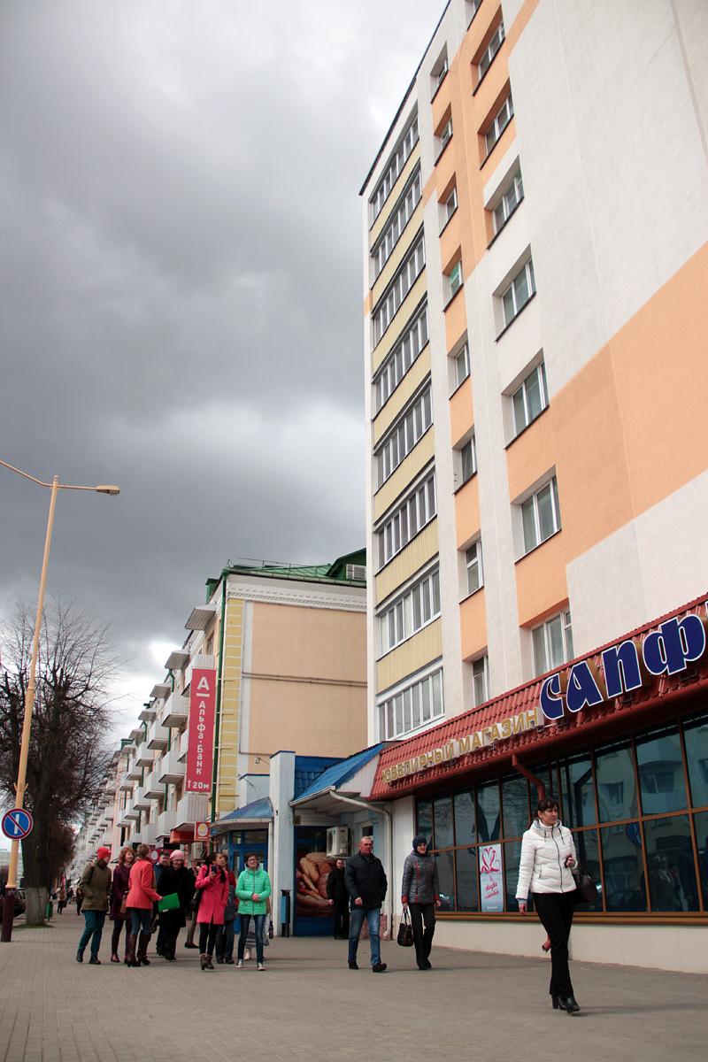 Самое первое девятиэтажное жилое здание в городе Барановичи.