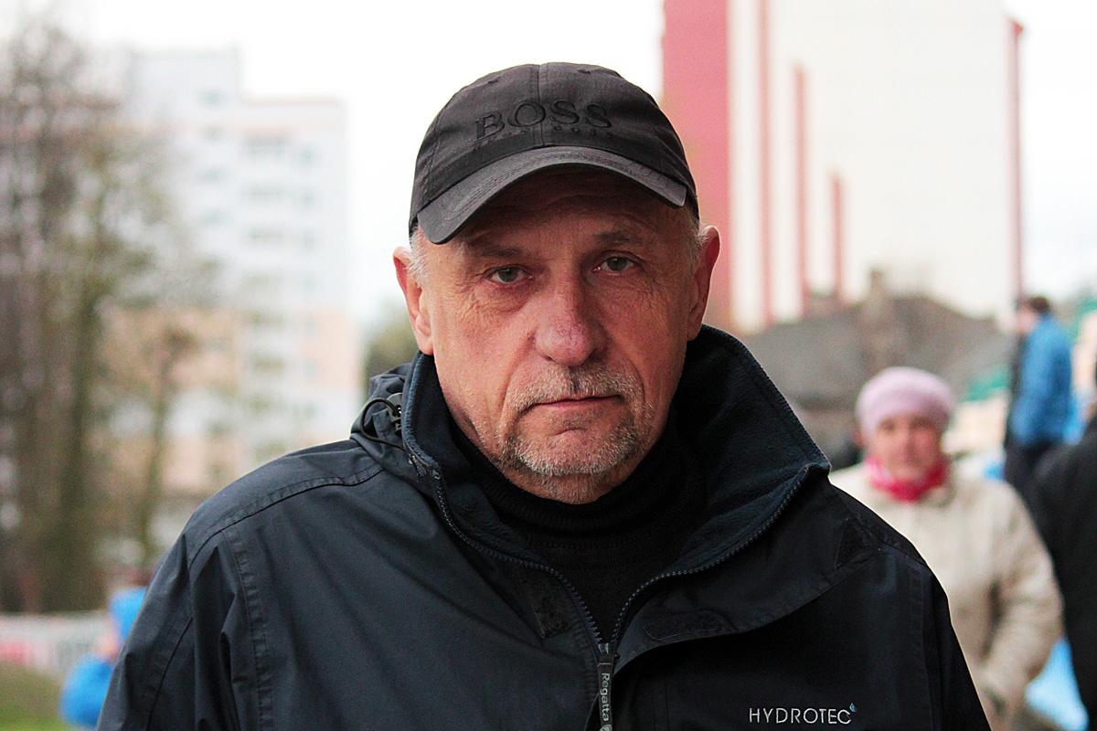 Болельщик ФК «Барановичи» Валерий Кравченя.