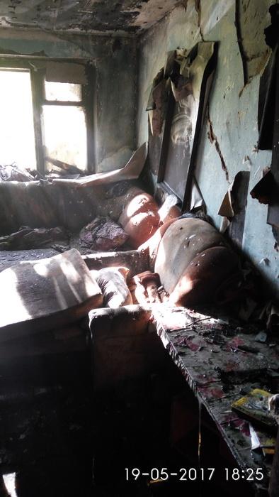 Одна из комнат, в которой был пожар. Фото: http://mchs.gov.by
