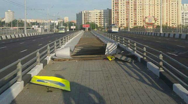 Место ДТП. Фото ОГАИ Центрального района Минска