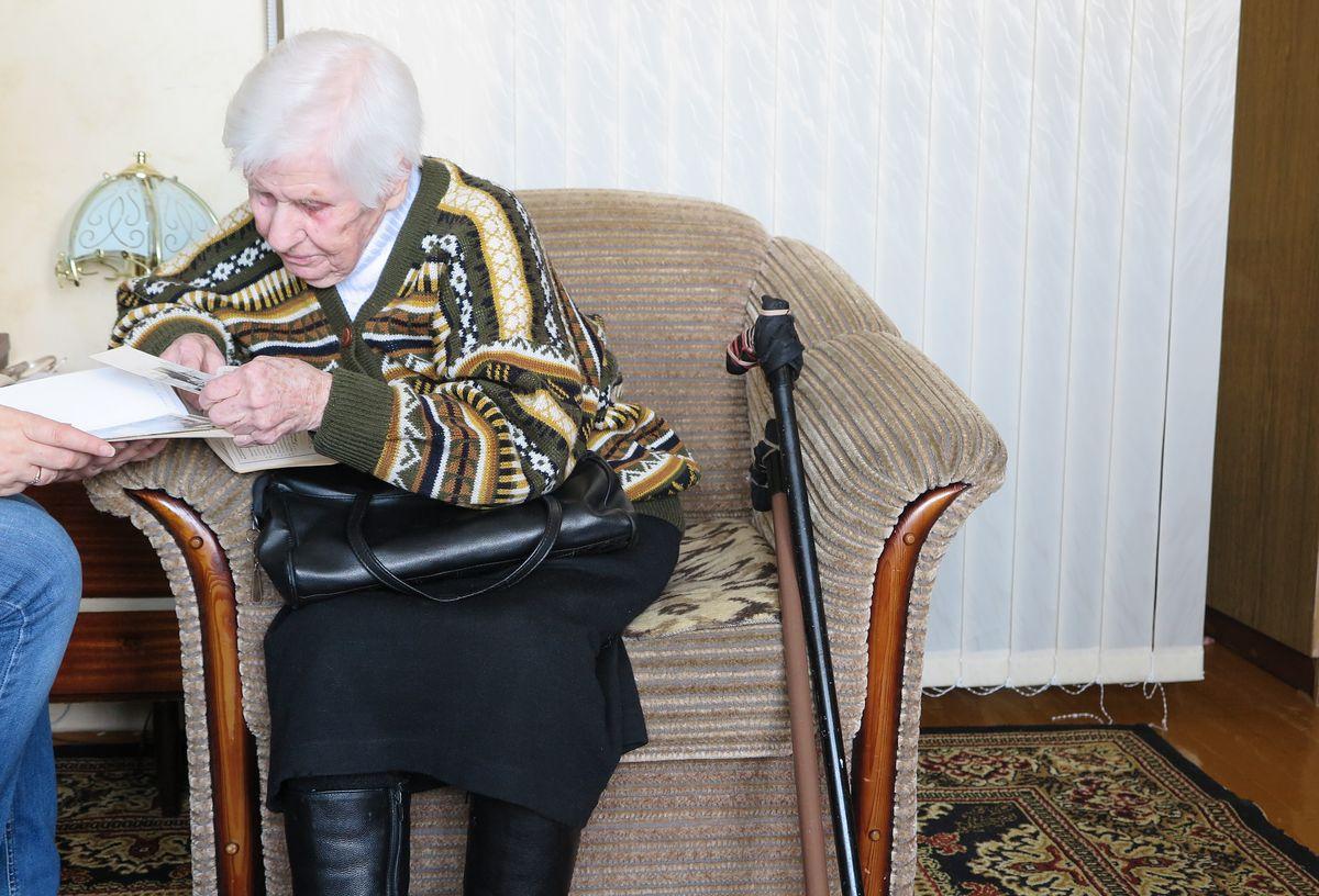 Ольга Петровна Картузова рассказывает о фронтовой жизни.
