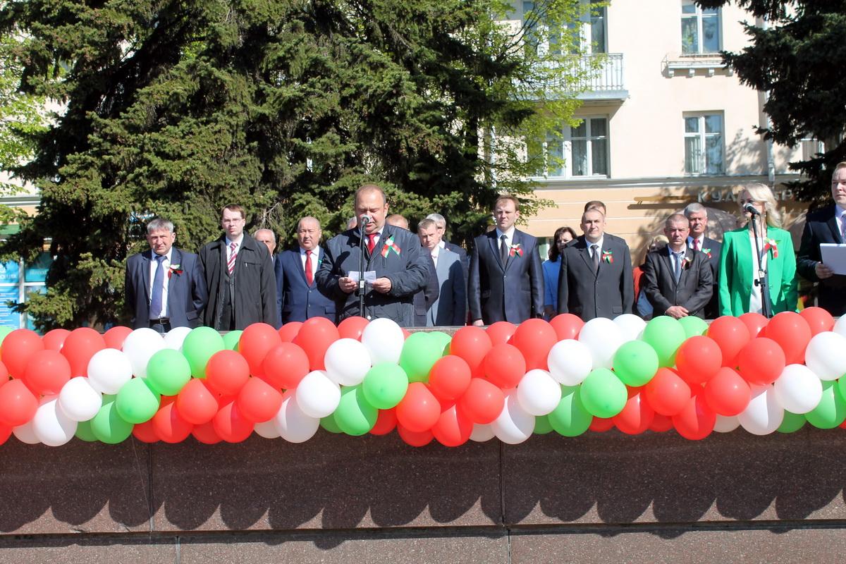 Падчас урачыстай цырымоніі выступіў старшыня Баранавіцкага гарвыканкама Юрый Грамакоўскі.