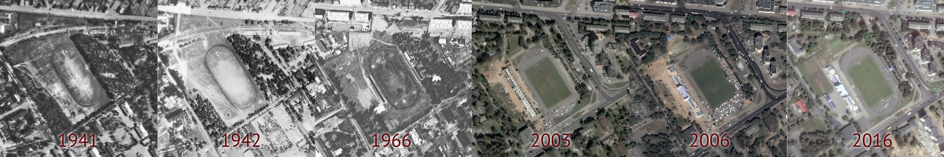 Стадион «Локомотив» с 1941 по 2016 год.
