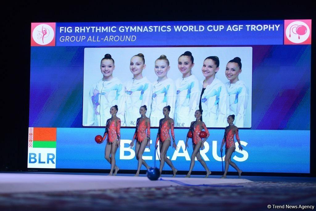 Белорусская национальная сборная по художественной гимнастике. Баку. Апрель 2017 года. Фото: сайт trend.az