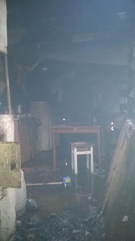 Пожар в деревне Мединевичи. Все фото: Барановичский ГРОЧС
