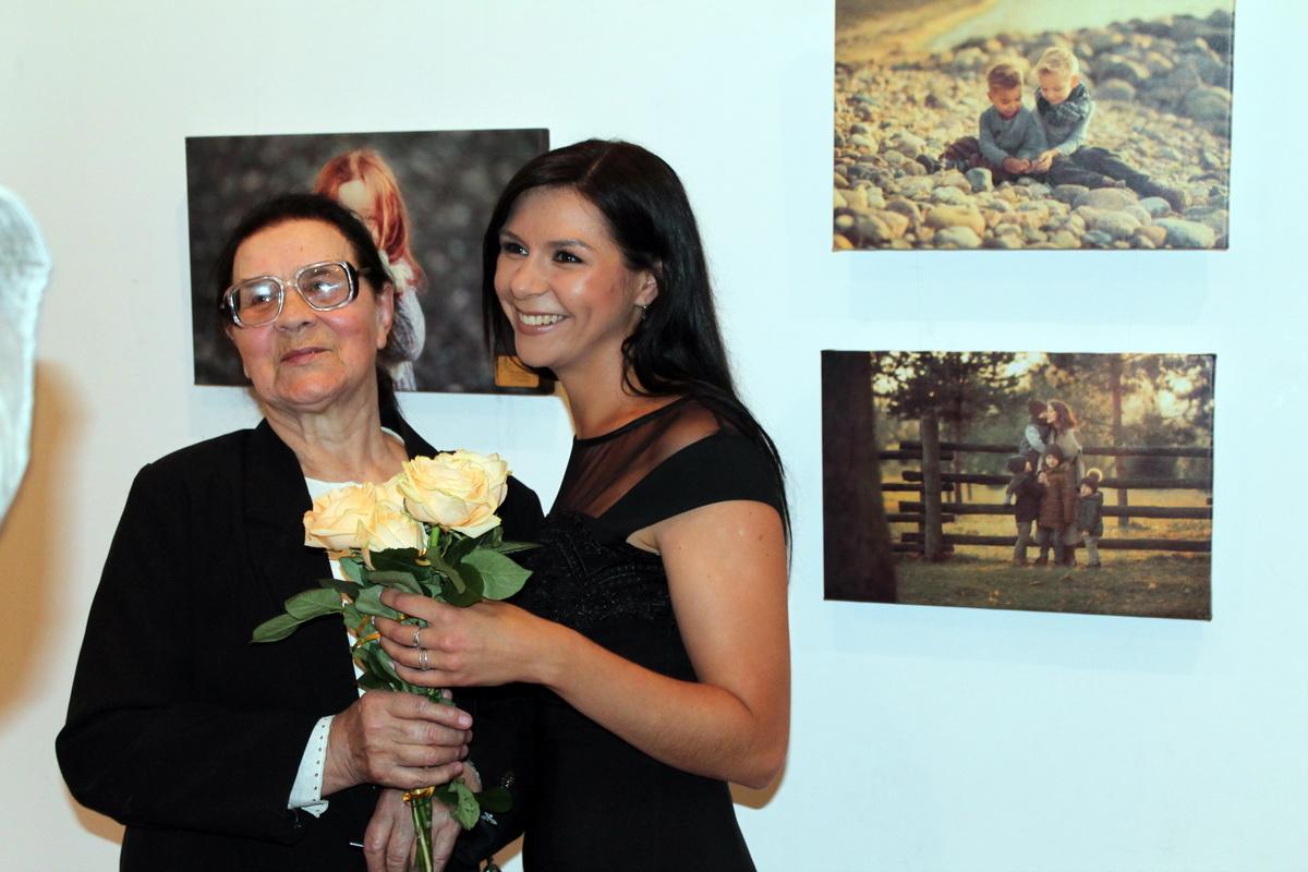 Дарья со своим первым преподавателем Надежной Брановец.