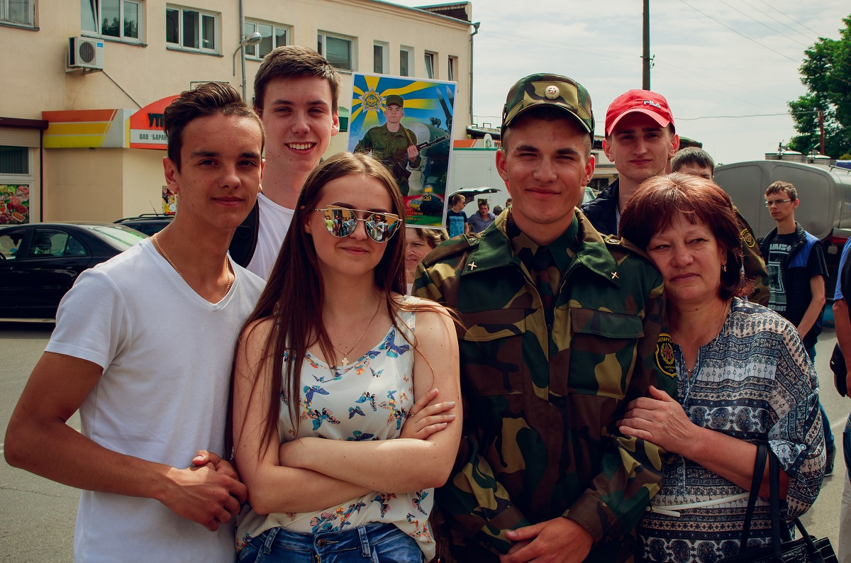 Военнослужащий Андрей Мацевич с семьей.