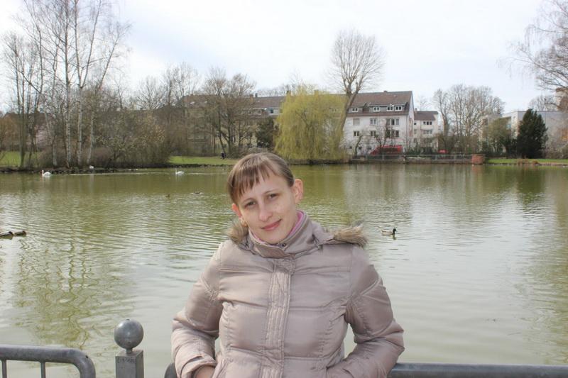 Екатерина Франк в Фолькспарке города Кайзерслаутерн. Фото: Личный архив