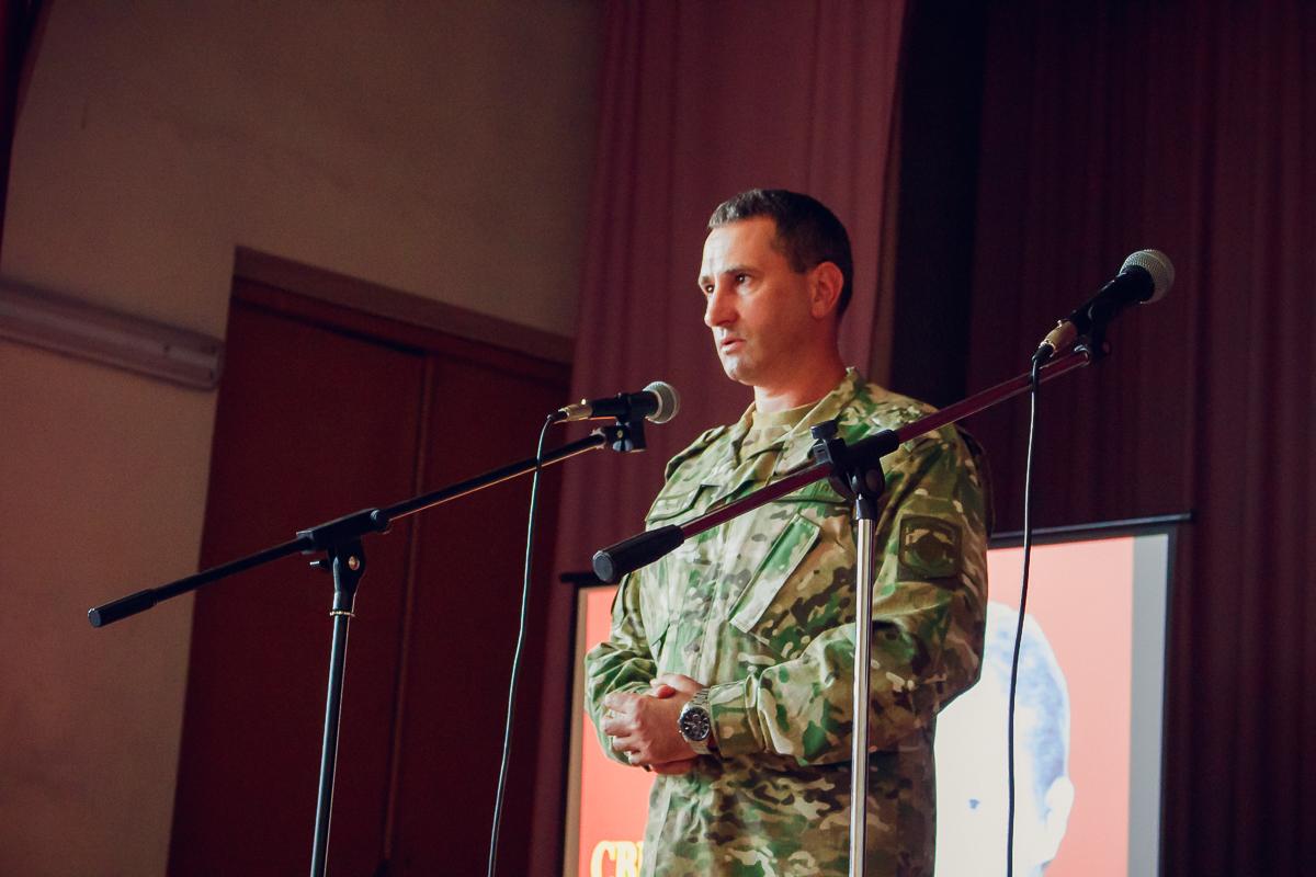 Сергей Козак, заместитель командира в/ч 7404 по идеологической работе.