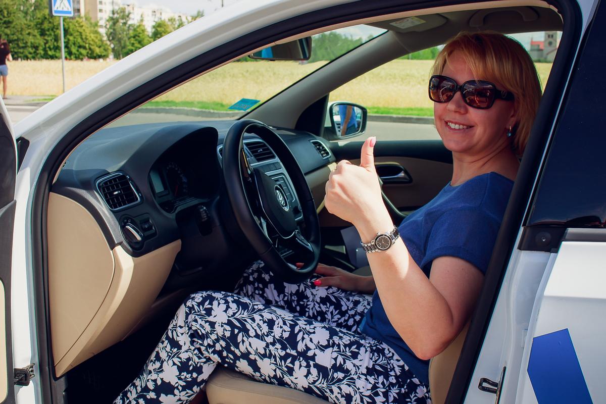 Наталья Делендик с 11-летним стажем вождения тестировала несколько марок автомобилей Фольксваген.