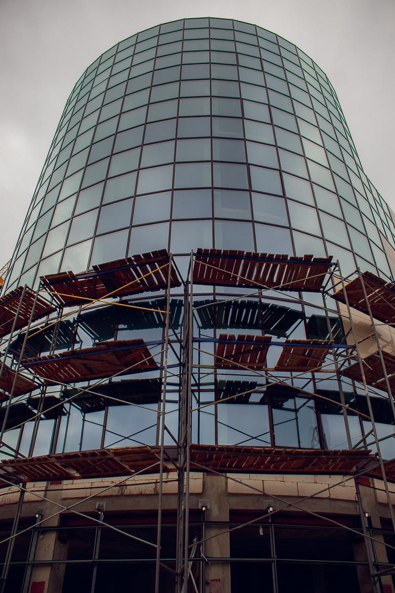 На крыше стеклянной башни планируют построить обзорную площадку