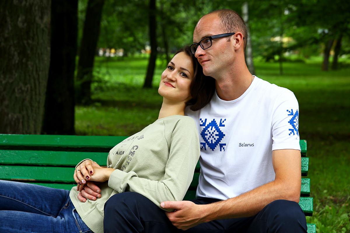 Сергей Сахон со своей женой Анастасией.