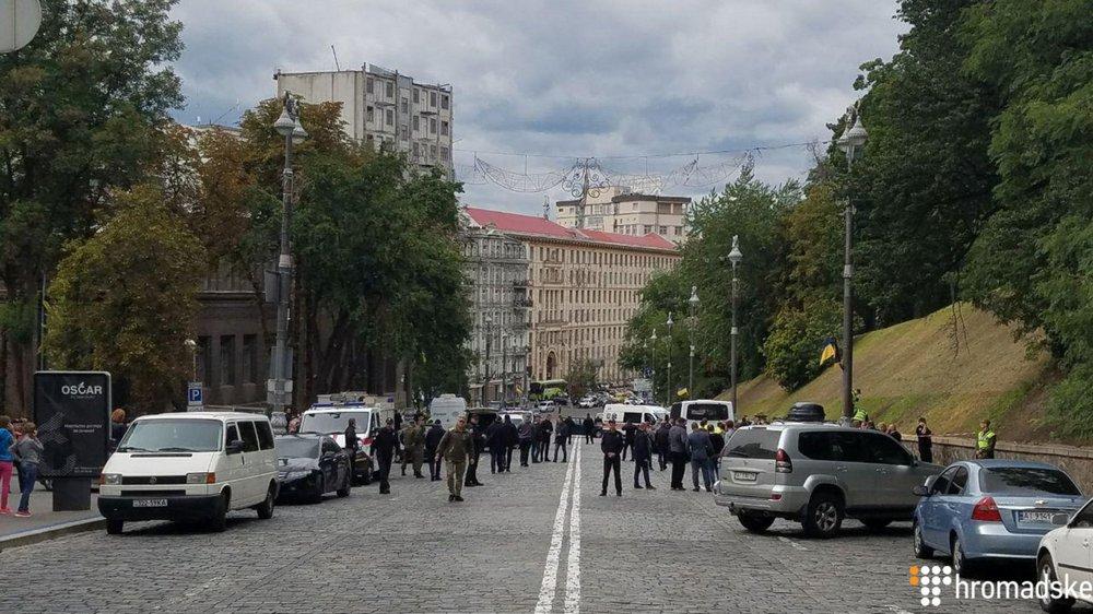 Киев, место взрыва. Фото: hromadske.ua