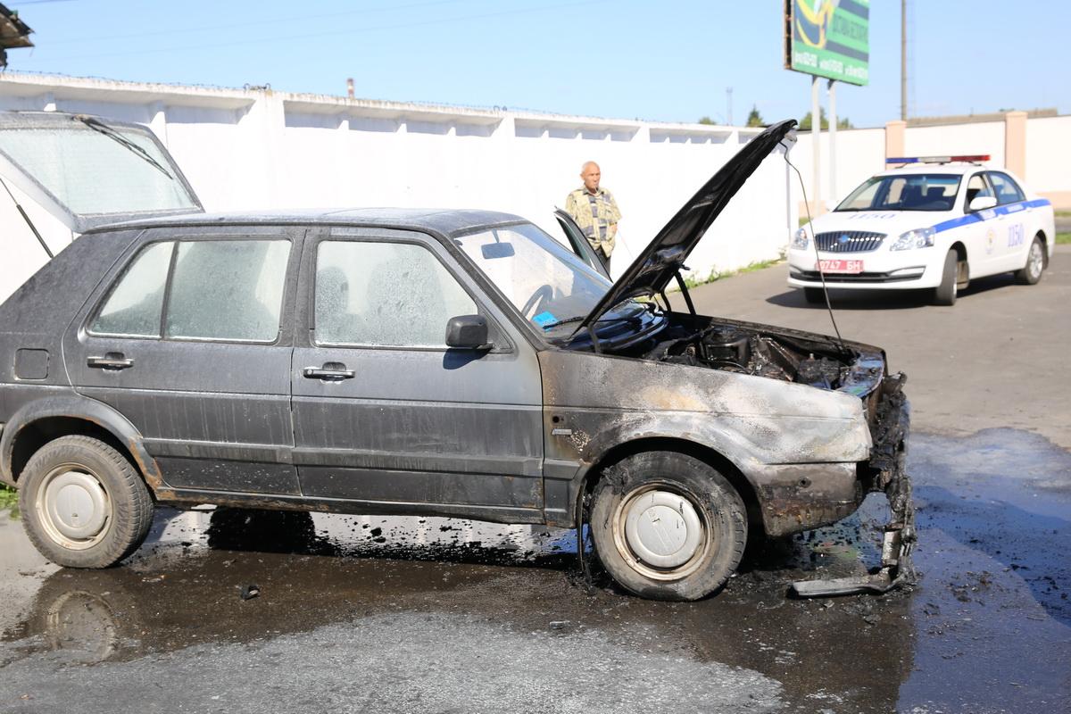 Так выглядит автомобиль после пожара.
