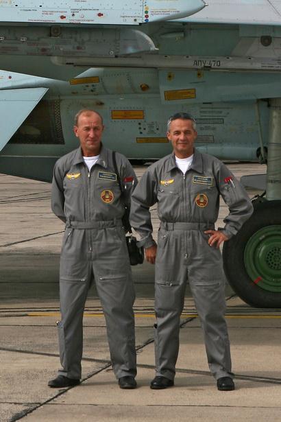 Александр Марфицкий и Александр Журавлевич, город Радом (Польша), август 2009 года