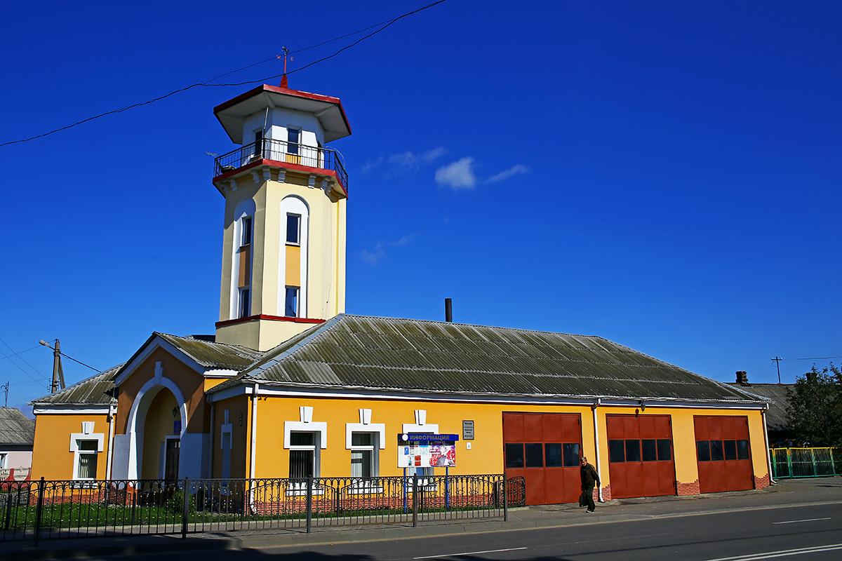 Пожарная часть на улице Тельмана. Фото: Евгений ТИХАНОВИЧ