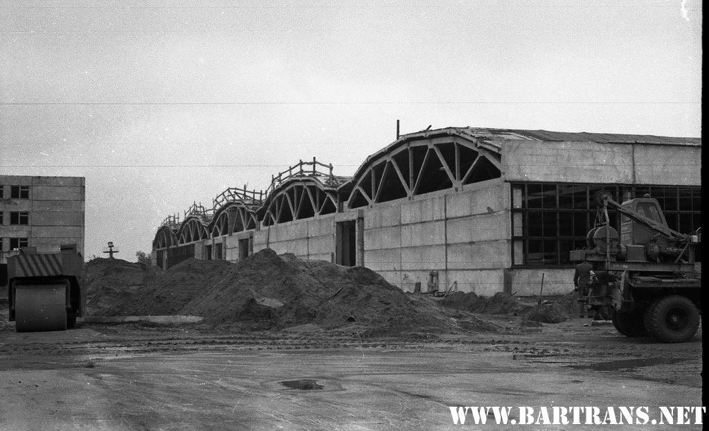 Строительство автобусного парка, июль 1972 года. Фото: сайт bartrans.net