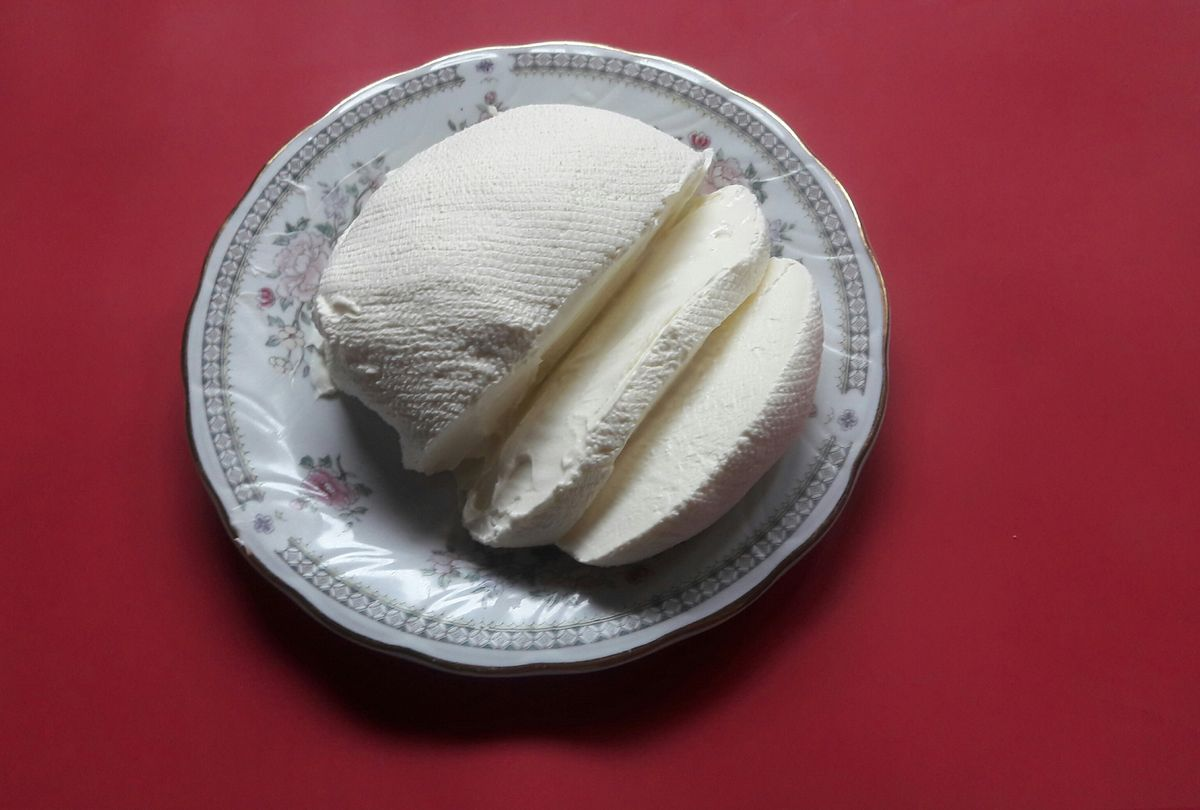 Готовый сыр.