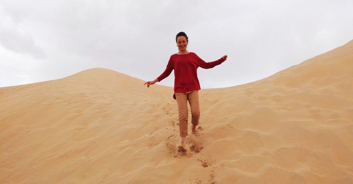 Пустыня в эмирате Абу-Даби.