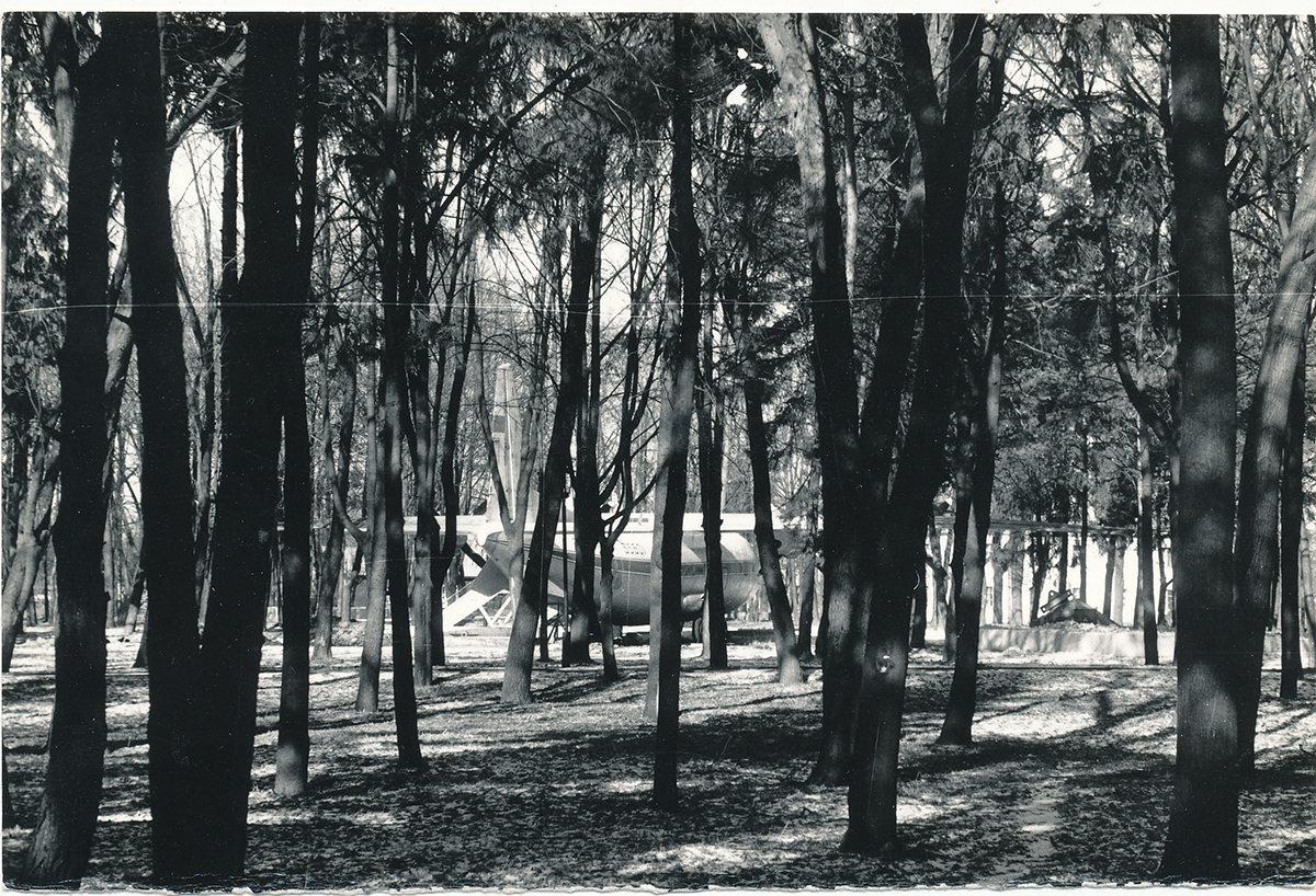 Зачастую драки проходили в старом парке, где в то время стоял самолет. Фото предоставлено Барановичским краеведческим музеем