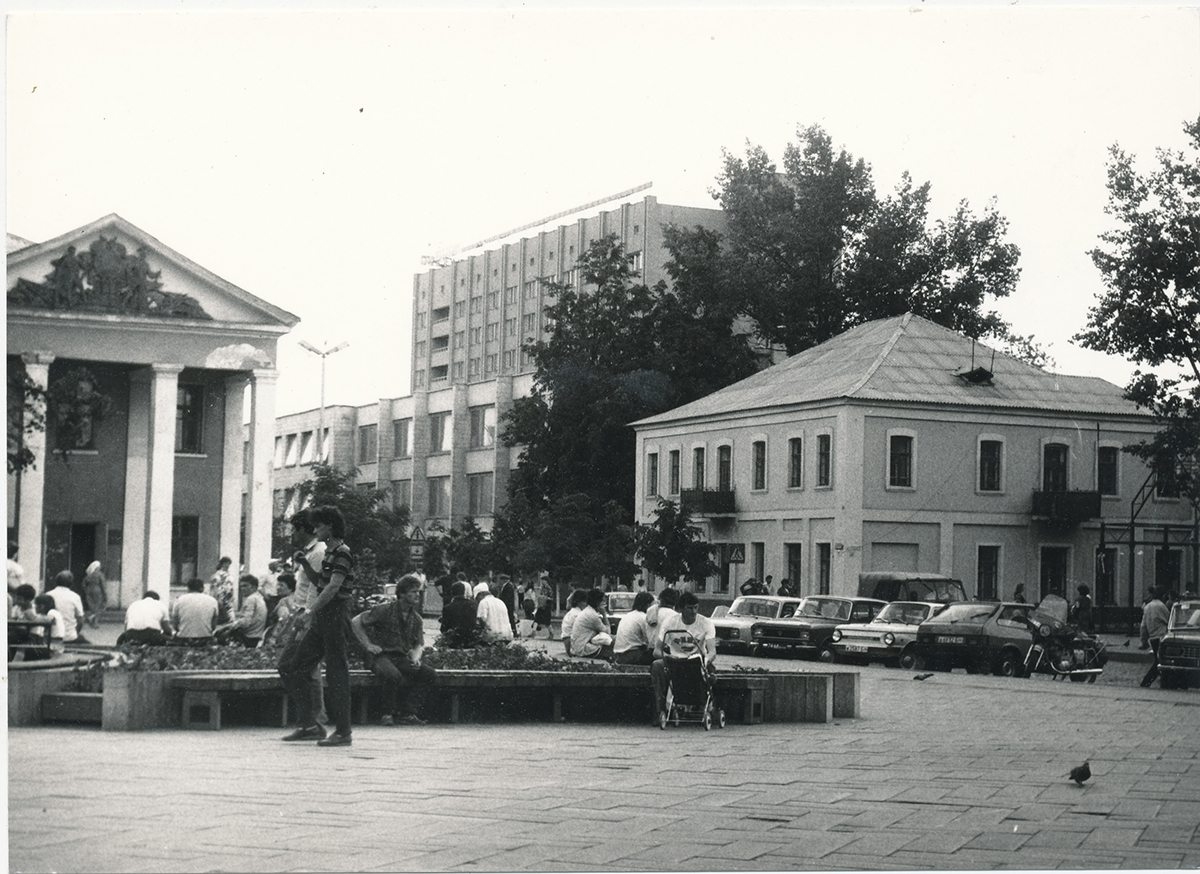 Площадь перед Домом торговли «Радуга». Фото предоставлено Барановичским краеведческим музеем