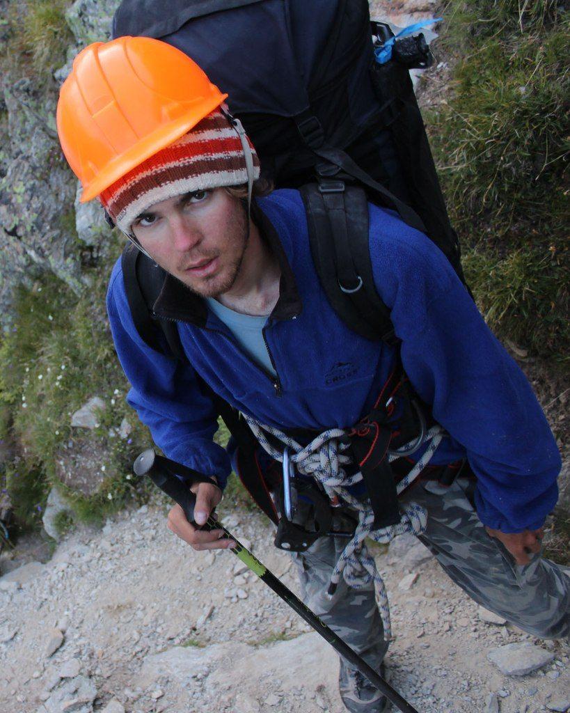 2013 год. Никита Седляр в походе по Альпам.