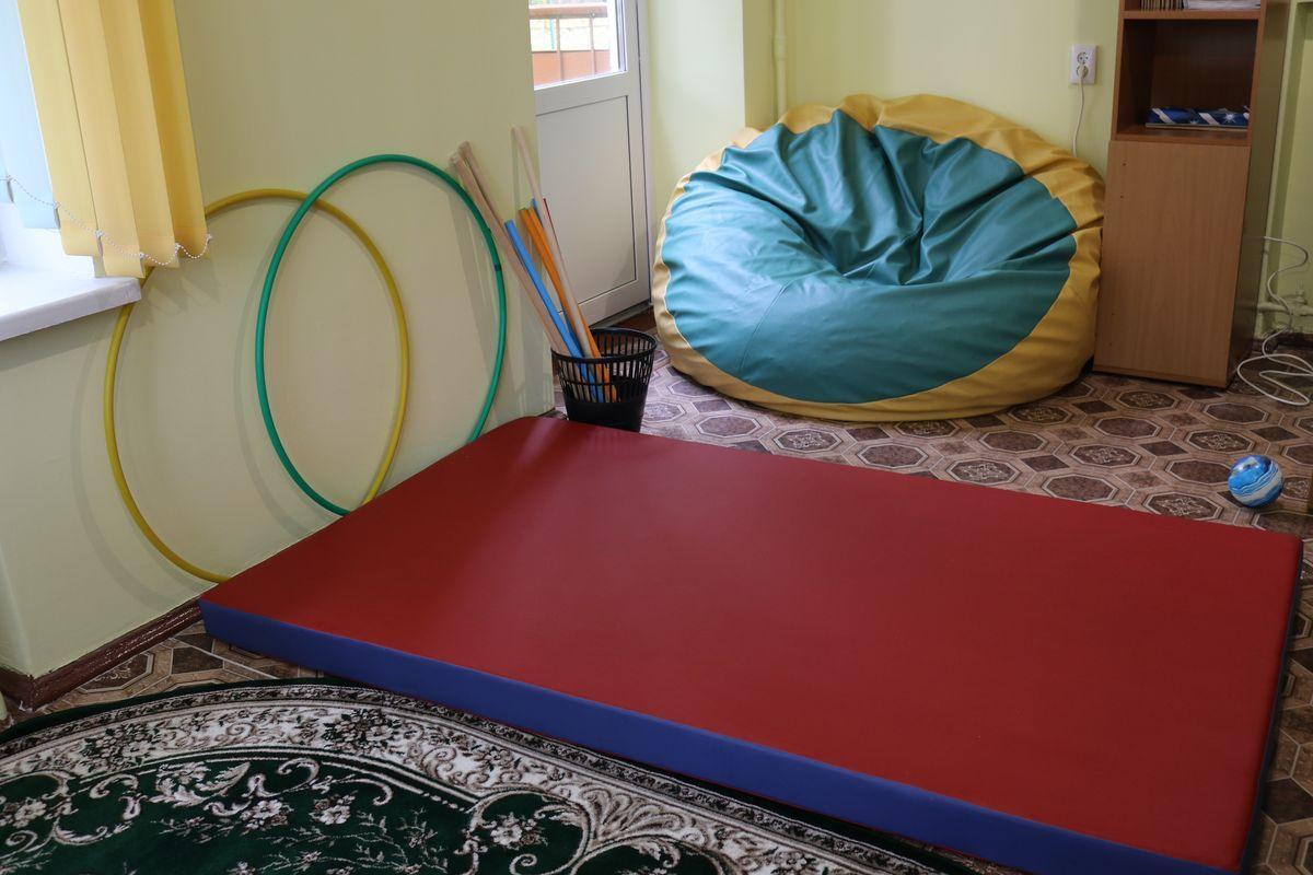 Место для отдыха и занятий посетителей второго отделения дневного пребывания инвалидов.