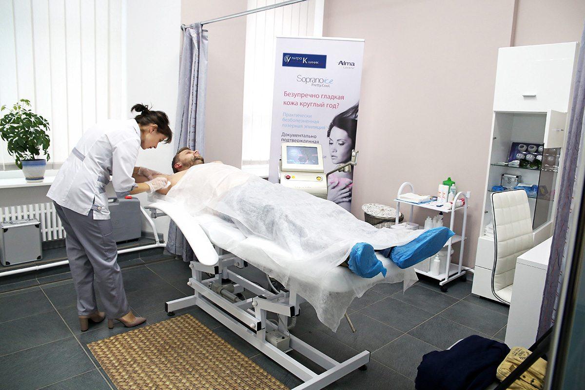 Подготовка к лазерной эпиляции. Фото: Евгений ТИХАНОВИЧ