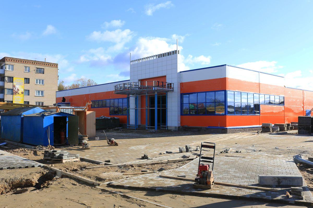 Строящийся магазин