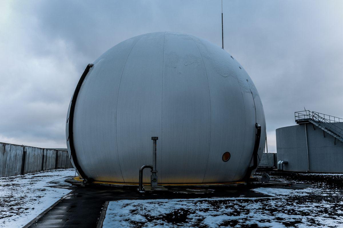 Хранилище для биогаза.