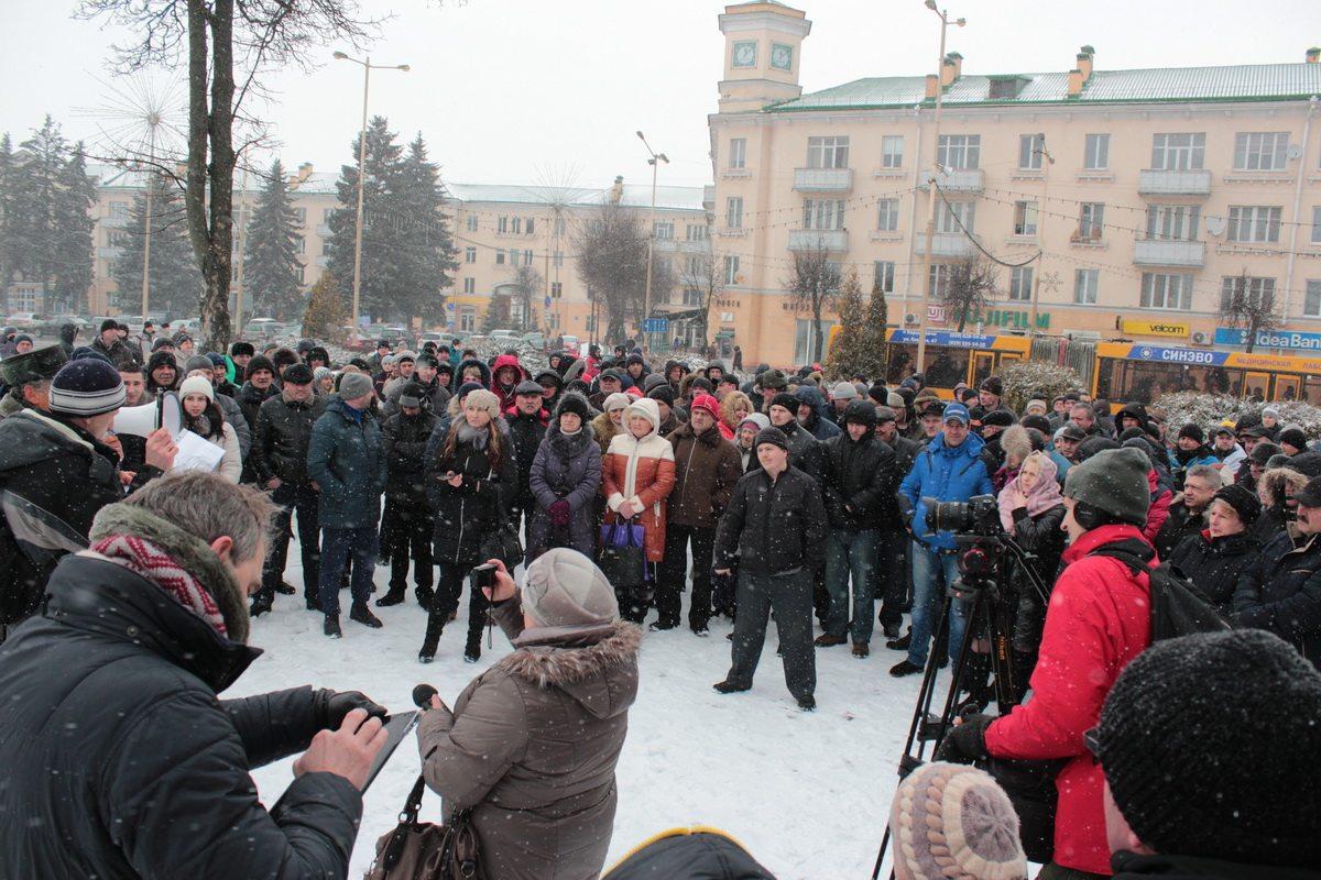 Митинг «нетунеядцев» 26 февраля собрал более 300 человек. Фото: архив Intex-press