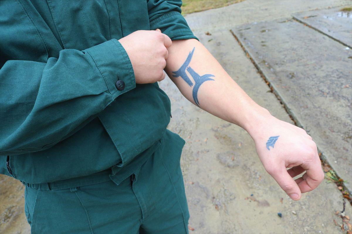 Татуировка Игоря.