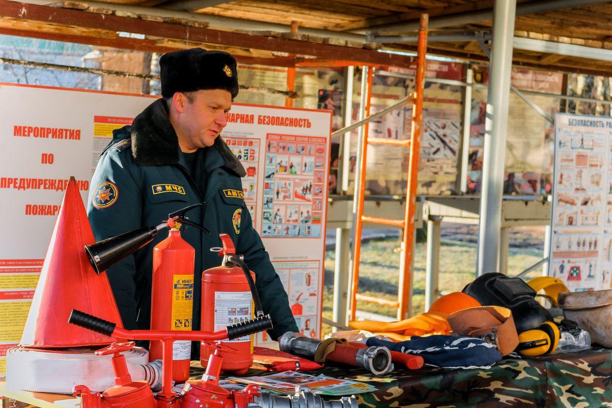Наглядная демонстрация средств противопожарной безопасности.