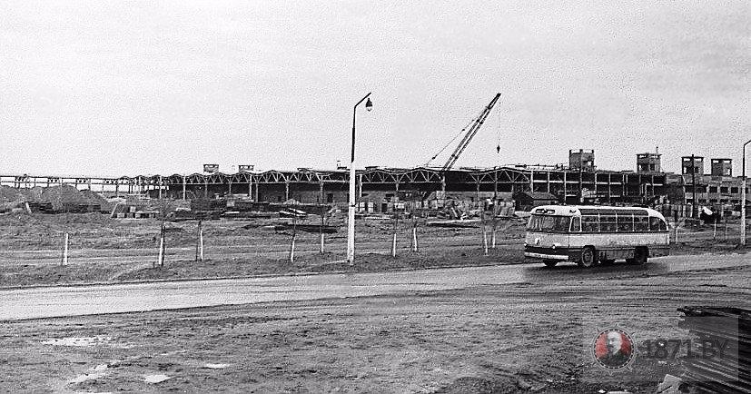 1964 год. Общая строительная площадка второй очереди ХБК. Фото: 1871.by