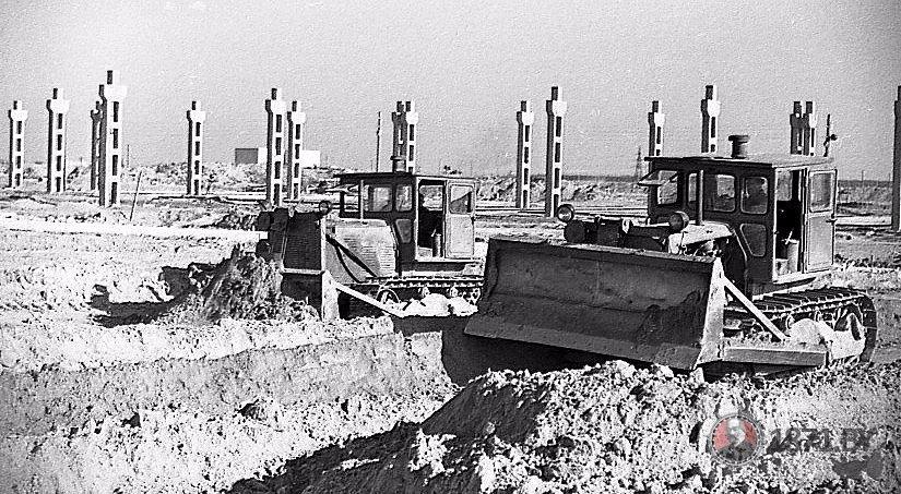 1965 год. Начало строительства комбината ЖБК. Фото: 1871.by