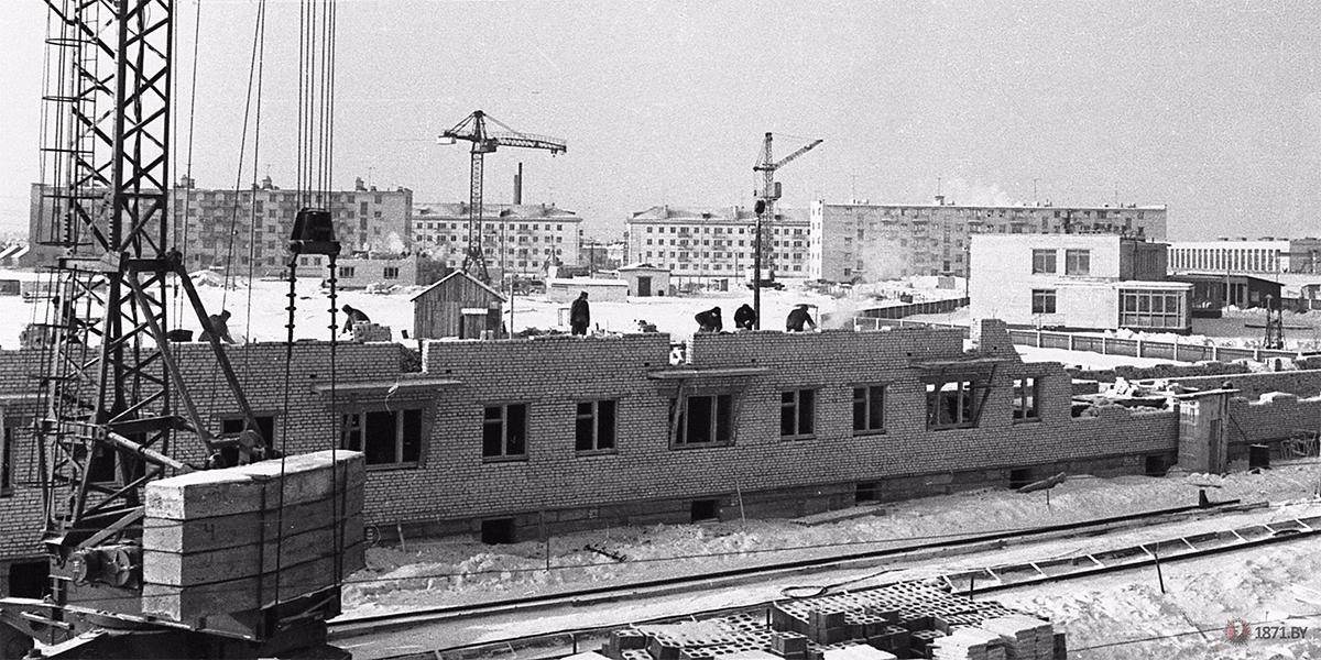 1966 год. Строительство микрорайона текстильщиков. Вдали видна ул. Кирова. Фото: 1871.by