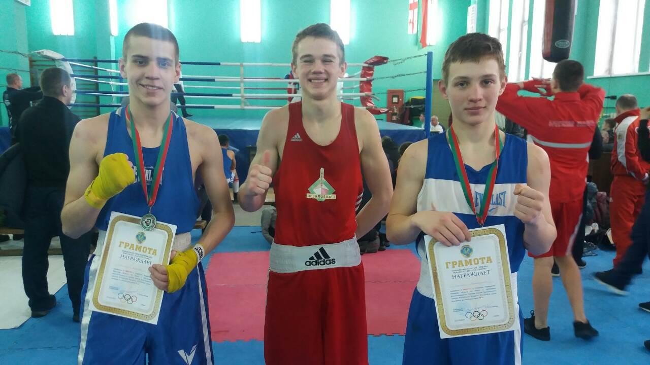 Победитель и серебряные призеры турнира: Владислав Сергель, Евгений Александрович и Илья Манько (слева направо)