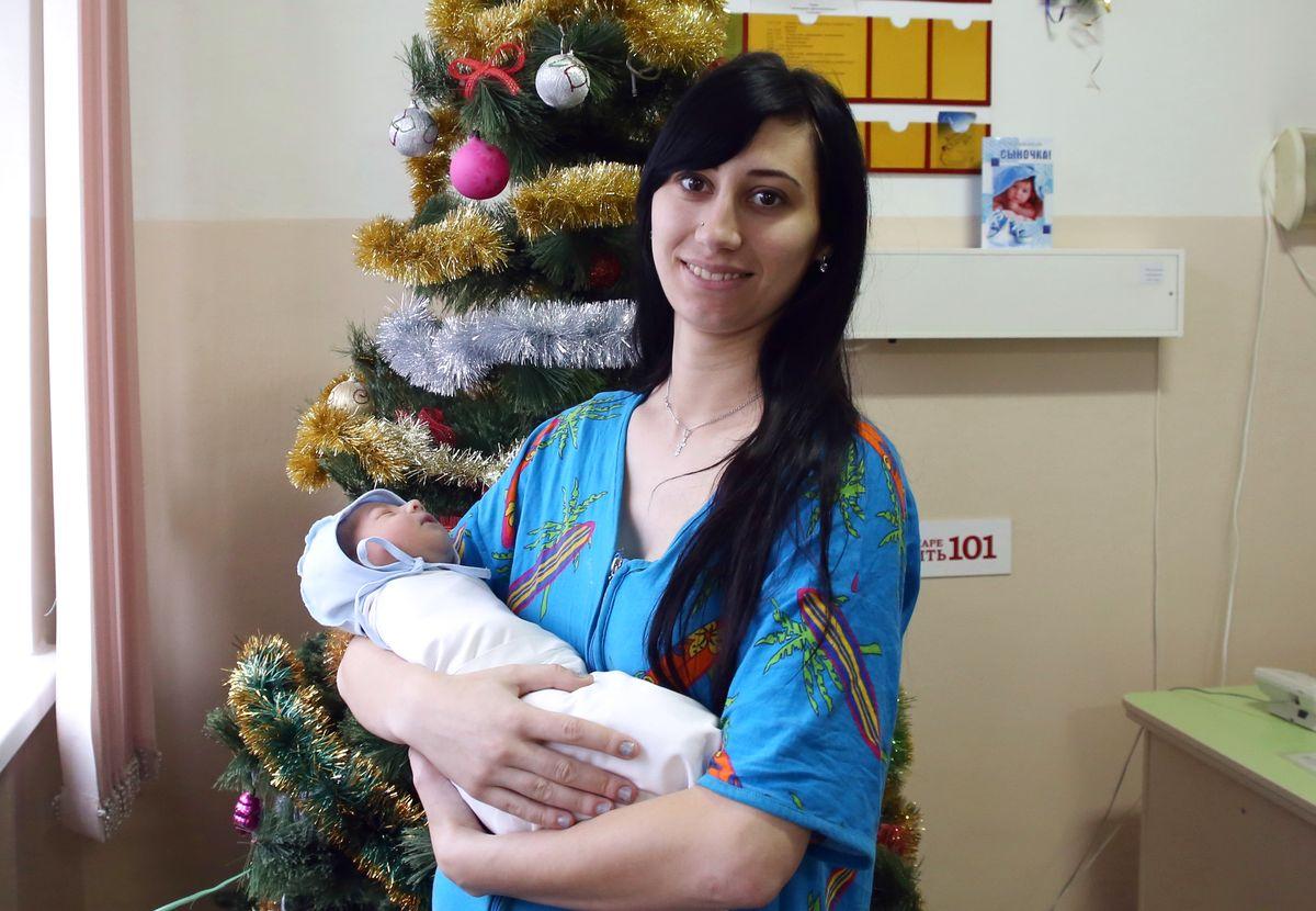 Кристина Телятникова с сыном Александром.