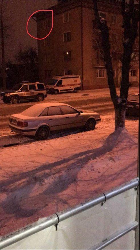 Фото с места происшествия, сделанное очевидцем.