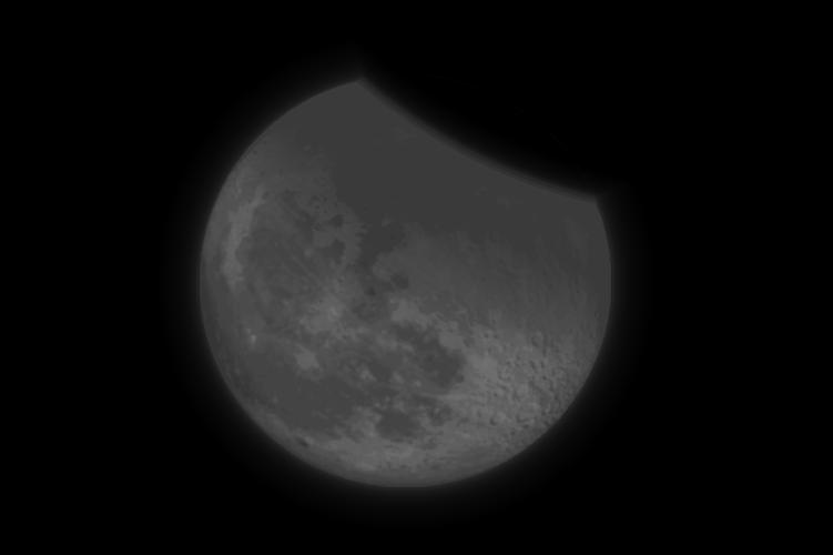 Тень Земли закроет верхний край Луны, он при этом может покраснеть. Симуляция: timeanddate.com