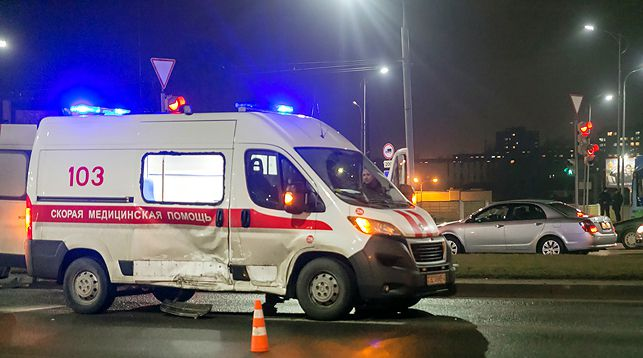 Место ДТП. Все фото: Информационный портал города Гродно