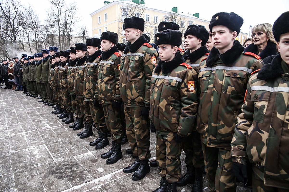На праздник были приглашены учащиеся Брестского областного кадетского училища.
